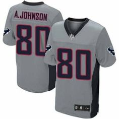 Mens Nike Houston Texans http://#80 Andre Johnson Elite Grey Shadow Jersey $129.99