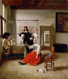 The Athenaeum - Young Woman Drinking (Pieter de Hooch - )