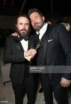 Casey Affleck and Ben Affleck attend Amazon Studios Golden Globes Celebration at The Beverly Hilton Hotel on January 8, 2017 in Beverly Hills, California.