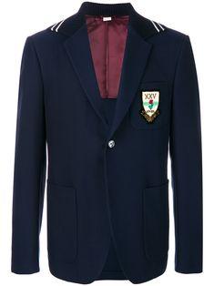GUCCI BLUE. #gucci #cloth # Gucci Men, Fashion Brands, Luxury Fashion, Red Band, Blue Wool, Black Stripes, Women Wear, Blazer
