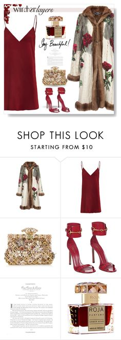 """""""Claret Red..."""" by desert-belle ❤ liked on Polyvore featuring Dolce&Gabbana, Roja Parfums, women's clothing, women's fashion, women, female, woman, misses, juniors and dolceandgabbana"""