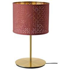 NYMÖ / SKAFTET Table lamp, dark red brass, brass - IKEA Table Lamp Base, Lamp Bases, Ikea Billy, Polypropylene Plastic, Plastic Tables, Led Lampe, Messing, Dark Red, Powder Coating