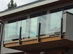 45 Remarkable Glass Railing Design for Balcony Fence - Page 19 of 47 Balcony Glass Design, Glass Balcony Railing, Balcony Grill, Balcony Railing Design, Balcony Window, Gate Design, House Design, Steel Railing Design, Modern Balcony