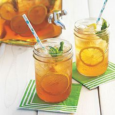 Sweet Tea Lemonade - make syrup & tea in same pot. Makes about 12 cups  then dilute to taste