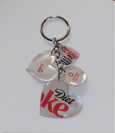 Pop Can Key Chain  (made with your fav soda can & mod podge) make a dr pepper one for my mom