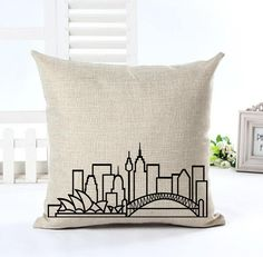 Sydney Skyline Cushion Cover