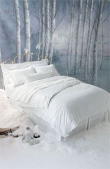 Create a Five-Star Bed: The elements of luxury hotel bedding generally include: (In order) Bed skirt Feather or foam mattress topper Mattress pad Fitted sheet Flat sheet One down blanket Flat sheet Duvet with an ultra-plush poly insert Two feather and down pillows with protectors and pillowcases Two hypo-allergenic pillows with protectors and pillowcases One boudoir pillow with protector and cover