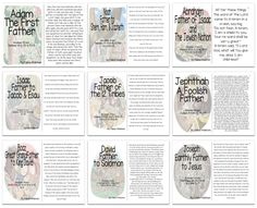 """Fathers of the Bible"" Printable Story Booklets for Kids"