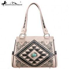 Western Aztec Collection Handbag-Beige