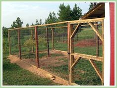 This is the chicken yard I want to build.