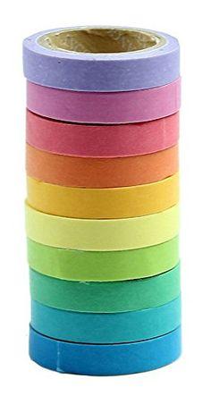10 x decorativo de Washi Tape arco iris rollos de papel p... https://www.amazon.es/dp/B00U88YSFW/ref=cm_sw_r_pi_dp_x_vm0GybRCZJMMZ