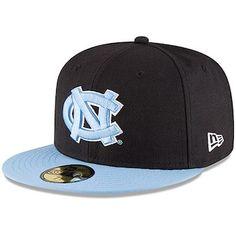 15a975b17a97a New Era North Carolina Tar Heels Black Carolina Blue Basic 59FIFTY Fitted  Hat