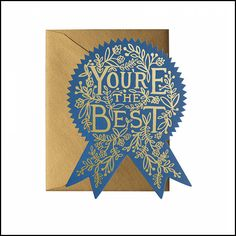 Designed by Anna Bond for her iconic stationery brand, Rifle Paper Co. Blank inside for you to Greeting Card Shops, Birthday Greeting Cards, Birthday Greetings, Anna Bond, Gold Envelopes, Rifle Paper Co, Congratulations Card, Deco Design, Foil Stamping