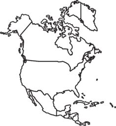 North America Blank Political Map.South America Map Lapbooks Pinterest Latin America Map