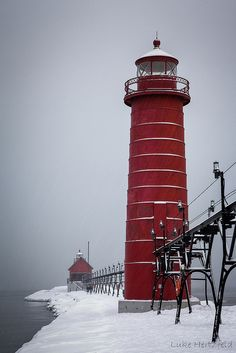 Lighthouse and Pier - Grand Haven, Michigan