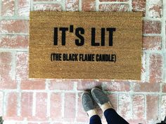 My favorite time of year is almost here! Check out all 4 of Josie Bs Halloween/Fall doormats!  Its LIT (The black flame candle)  In stock and ready...