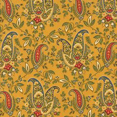 Paisley Fabric A La Carte Country French by TheFabricHive on Etsy