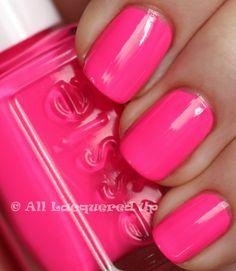 Essie nail polish in Pink Parka!