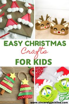 christmas crafts for kids to make easy. Here is a collection of DIY Christmas cr. christmas crafts for kids to make easy. Here is a collection of DIY Christmas crafts. Crafts for ki Christmas Crafts For Kids To Make, Easy Crafts For Kids, Craft Activities For Kids, Toddler Crafts, Simple Christmas, Holiday Crafts, Fun Crafts, Crafts Toddlers, Snowman Crafts
