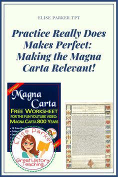 Free Magna Carta Worksheet to go with the Horrible Histories Song: Magna Carta 800 Years. You can find the video for free too -- on YouTube! 18 free response questions, critical thinking, extended learning, plus loads of lesson plan ideas to make worksheets in class a lot more fun! The video is good to show over and over since it covers 800 years of history! Free worksheet from Elise Parker TpT. #magnacarta #olivercromwell #thomasjefferson #unitednations #humanrights #ruleoflaw #worldhistory History Activities, Class Activities, Teaching History, Teaching Resources, Best Teacher, School Teacher, Depth Of Knowledge, Horrible Histories, Magna Carta