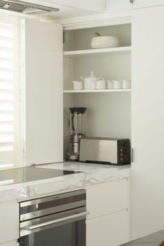 Appliance Cupboard in Kitchen. Brooke Aitken Design.