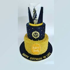 Black & Gold cakes never cease to thrill me. A cool cake for a cool dude.  #Black&GoldCakes #Mensbirthdaycake #TooNiceToSlice #CakenCandy #LagosCakes   To see more of our cake pictures, you can Follow us on ;  Twitter : @cake_n_candy  BBM Channel : C002BC208  BBM Pin : 56788137  Instagram : @Cakencandy_Confectionery   Website: www.cake-n-candy.com   Email: info@cake-n-candy.com   And chat us up on WhatsApp : 0817 487 8147 to place your order