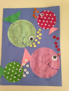 Cupcake liners and sequins fish