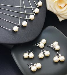 Swarovski Pearl Ear Posts and Necklace Jewelry set for the classic wedding jewelry http://www.earringsnation.com/bridal-jewelry/swarovski-pearl-ear-posts-and-necklace-jewelry-set#.UvUs-HddVg9