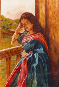 Shuchi Krishan - oil paintings on ancient Indian architecture and of the world, contemporary Indian woman, harelis and forts of Rajasthan, mud and glass murals. Indian Artwork, Indian Art Paintings, Oil Paintings, Landscape Paintings, Indian Women Painting, Indian Artist, Bengali Art, Rajasthani Painting, Art Painting Gallery