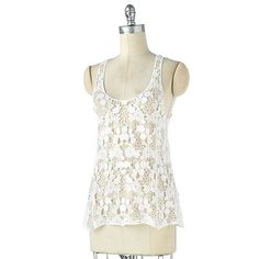 LC Lauren Conrad Crochet Racerback Tank- I really want this for layering this summer!  Retails $44