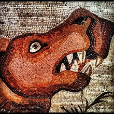 Particolare di mosaico di Pompei