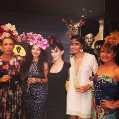 It's a Fascinator Affair at Mythology Boutique today! ⭐️ #melbournecup @mythologysing #fashion #singapore