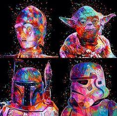 Star Wars - C3PO - Yoda - Boba Fett - Stormtropper