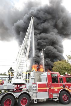 Seattle firefighters battle the blaze at the Asko Processing. (Mike Siegel / The Seattle Times)