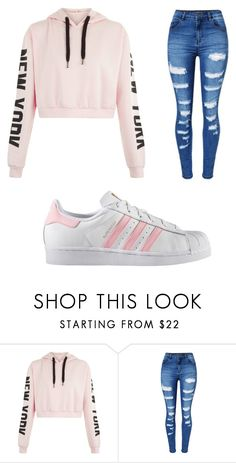 """Untitled #238"" by jazzy0124 on Polyvore featuring WithChic and adidas"