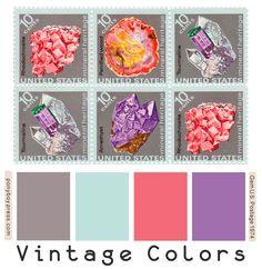 Vintage Color Palette - Gems U. Vintage Color Schemes, Vintage Colour Palette, Vintage Colors, Hex Color Codes, Hex Codes, My Favorite Image, Color Theory, Vintage Paper, Vintage Images