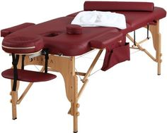 Sierra Comfort All Inclusive Portable Massage Table, Burgundy. For product & price info go to:  https://beautyworld.today/products/sierra-comfort-all-inclusive-portable-massage-table-burgundy/