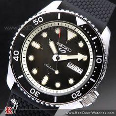 Seiko 5 Sports Black Silicone Strap 100M Automatic Watch SRPD73K2, SRPD73 Seiko 5 Automatic, Automatic Watch, Sport Watches, Watches For Men, Seiko Titanium, Seiko Sportura, Seiko Presage, Seiko 5 Sports, Seiko Men