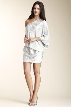 One Shoulder Draped Dress