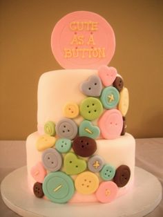 Cute as a button baby shower.. one of my favorite sayings!