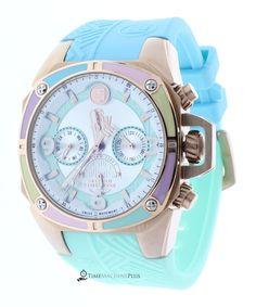 Technosport TS-100-LIFE1M Women's Watch Light Blue & Mint Strap Swiss Multifunction Movement