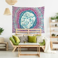 Psychedelic tapestry of a microscopic image, Bohemian decor wall hanging, Photomicrography, Shabby chic fabric wall art. Modern Shabby Chic, Shabby Chic Porch, Shabby Chic Vanity, Shabby Chic Wallpaper, Shabby Chic Fabric, Shabby Chic Curtains, Shabby Chic Living Room, Shabby Chic Bedrooms, Shabby Chic Decor