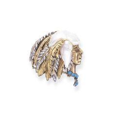 verdura a retro diamond and gold feather brooch by fulco di verdura Modern Jewelry, Jewelry Art, Antique Jewelry, Vintage Jewelry, Jewellery, Doris Duke, Jewel Of The Seas, Turquoise Pendant, Turquoise Necklace
