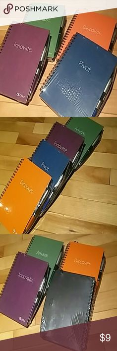 Spiral notebooks with pens (4) Spiral notebooks with pens  (4). Not used. Other