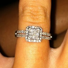 I like this shape! But instead of 4 small diamonds in the center, I think one big one would look better.