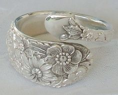 Wedding Bouquet Vintage Alvin 1932 Sterling Silver by dmfsparkles, Silver Spoon Jewelry, Silverware Jewelry, Silver Spoons, Sterling Silver Rings, Jewelry Box, Jewelry Accessories, Vintage Jewelry, Jewelry Design, Jewelry Making