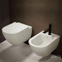 Bidet sospeso colorato Talco Enjoy - Bidet colorato da bagno Ceramica Cielo