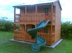 2 story wooden playhouse plans
