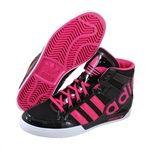 Adidas Childrens Hard Court Hi Big Logo (GS) Black fashion sneakers