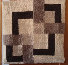Absolutely Stunning Huge Hand Woven Wool Wall Hanging made with New Zealand Wool. Superior quality wool. Mid Century Modern Geometric Design.